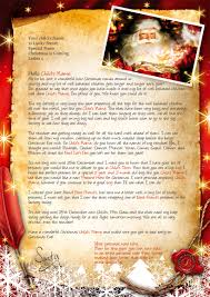 letter to santa template word letter from santa and father christmas letters official lapland lapland letter 1 small