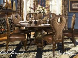 Dining Room Chair Covers Round Back by Awesome Cappuccino Piece Dining Set Room Furniture Sets Round