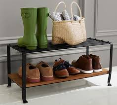Shoe Rack by Blacksmith Shoe Rack Pottery Barn