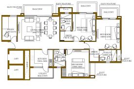 1800 Sq Ft Floor Plans Ats Rhapsody Floor Plan 3 4 Bhk Apartments In Ats Greens Noida