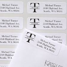 name monogram personalized address labels