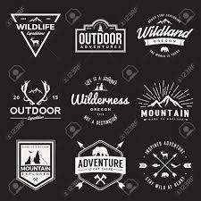 design a vintage logo free vector set of wilderness and nature exploration vintage logos