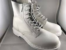 white boots for womens size 9 dr martens flat 0 to 1 2 in s us size 9 ebay