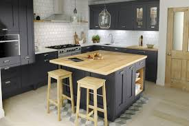 kitchen design workshop classic shaker milbourne door in a bold charcoal kitchens