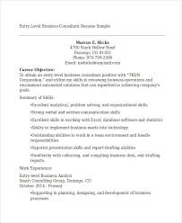 Business Consultant Sample Resume by 22 Business Resume Templates Free Word Pdf Documents Download