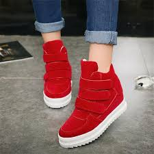 womens boots velcro high velcro athletic sneakers shoes