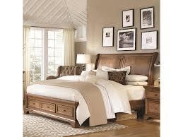 Storage Bed Highland Court Walnut Creek Queen Low Profile Sleigh Storage Bed