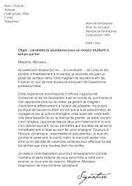 lettre de motivation femme de chambre d饕utant lettre de motivation étudiant temps partiel modèle de lettre