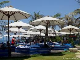 Ll Bean Beach Umbrella by Komune Beach Club Keramas Bali Kura Kura Guide
