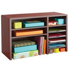 Safco Desk Organizers 3692mh 29 X 12 X 18 Mahogany 9 Section Wood Laminate Desktop