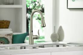 moen 7594esrs arbor high goose neck kitchen faucet with
