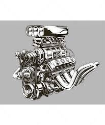 detailed road engine with skull tattoo by gb art graphicriver