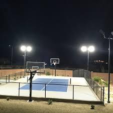 Sports Light Fixtures 0690 Backyard Sports Court George Utah