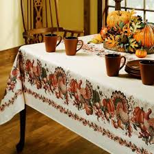 benson mills thanksgiving printed fabric tablecloth