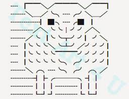 Ascii Art Flowers - sheep unicode text art copy u0026 paste code cool ascii text art 4 u