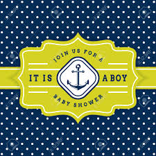 anchor theme baby shower nautical baby shower sea theme baby party invitation card