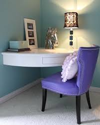 Desk In Corner Bedroom Corner Desk And Shelves Comfortable Personal Pertaining To
