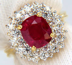 natural ruby rings images Vintage gold diamond cocktail ring 2 00ct ruby 2 60ct yellow gold JPG