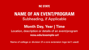 example of a flyer for an event downloads nc state brand
