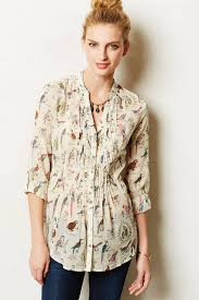 maeve clothing lyst maeve pintucked buttondown in