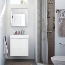 bathroom ikea make it airy and bright with clean lines in white