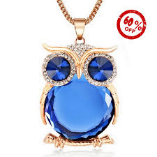owl necklace pendants images Fashion owl pendant necklace usa best gadgets jpg