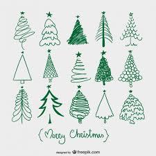 arbres de noël croquis tree sketches doodles and christmas tree