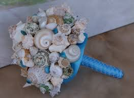 wedding bouquets with seashells new blue and green seashell bouquet bouquet