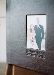 leather bound wedding album micha joel s leather wedding album britt photography