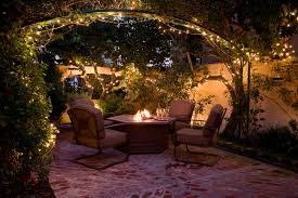 String Lighting For Patio Outdoor String Lights Patio Traditional With Courtyard Firepit