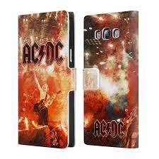 Art Leather Albums Official Ac Dc Acdc Album Art Leather Book Wallet Case For Samsung