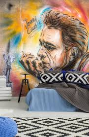 20 best movies music and celebrity wall murals images on cash doesn t always wear black wall mural