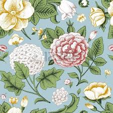 seamless pattern with vintage roses royalty free cliparts vectors