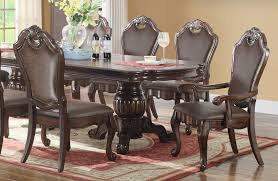 Dining Room Arm Chairs Geronimo Formal Dining Room Table Set