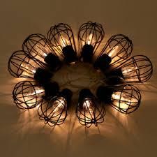 led lantern string lights solar powered 10 led lantern string lights metal cage bulb shape