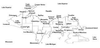 up michigan map peninsula map
