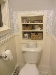 before and after powder room toilet bath and storage