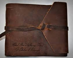 leather photo albums engraved engraved photo album etsy