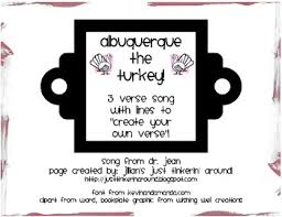 albuquerque the turkey thanksgiving song and blank verse tpt
