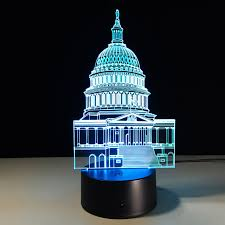 lights dimming in house white house dimming 3d led night light led table l atmosphere