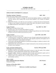 Sample Teacher Resume Indian Schools by Sample For Resume Writing Resume Writing For Teachers Examples