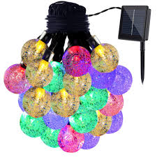 Light Up Topiary Balls - gdealer solar string lights 20ft 30 led crystal ball waterproof