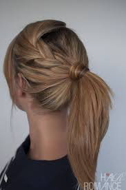 hair braided into pony tail easy braided ponytail hairstyle how to hair romance