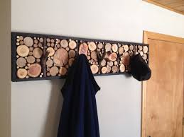 hand crafted log branch coat racks by live edge woodcrafts
