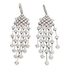 Red Chandelier Earrings 16 5 Carat Diamond Gold