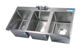 three compartment sink faucet bk resources s s 3 compartment drop in sink w faucet 10 x14 x10 bk