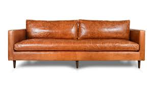 Cognac Leather Sofa by All Leather Sofas Cococo Home