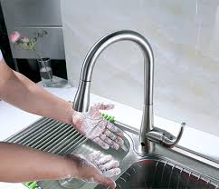 high arc kitchen faucet motion sensor faucet kitchen cook with thane