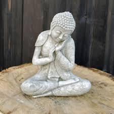 sleeping buddha ornament bd7 28 49 garden4less uk shop