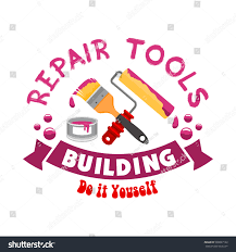 graphic design works at home repair home construction icon work tools stock vector 530027122